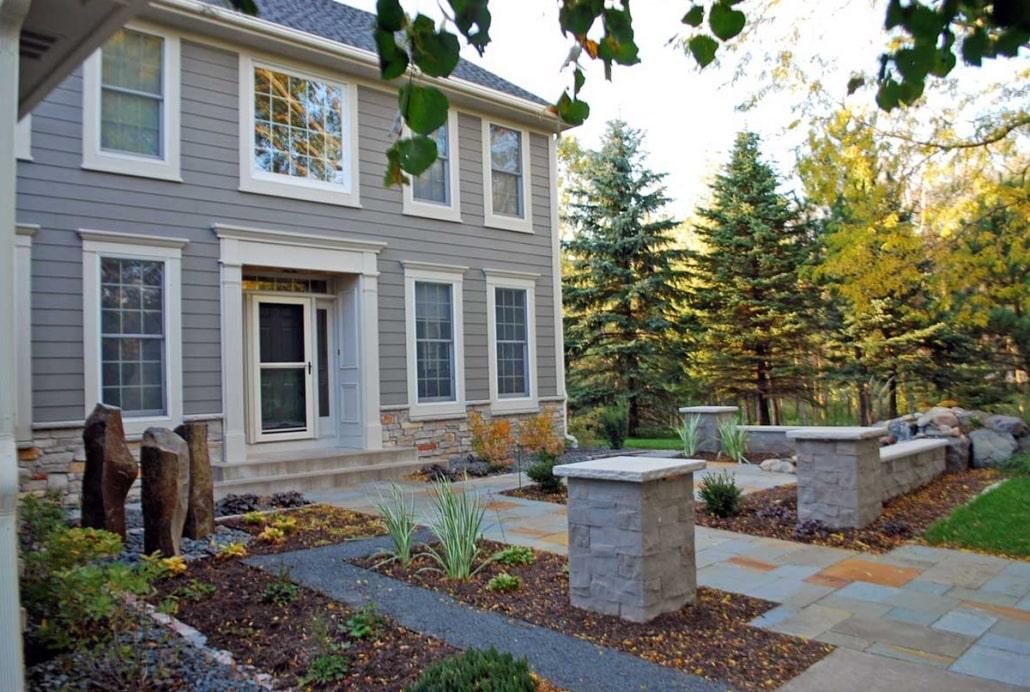 Front Yard Landscape Design In Minnesota Landscapes Unlimited