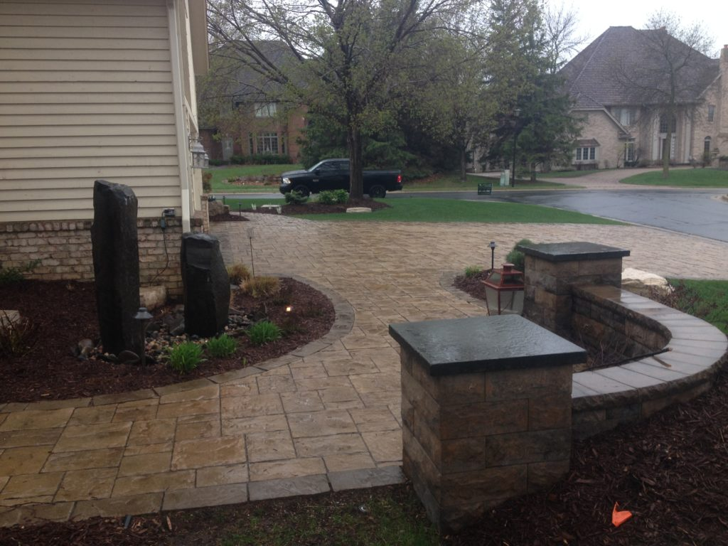 Some people really like the look of a wet paver. it can make colors darker and more dramatic.